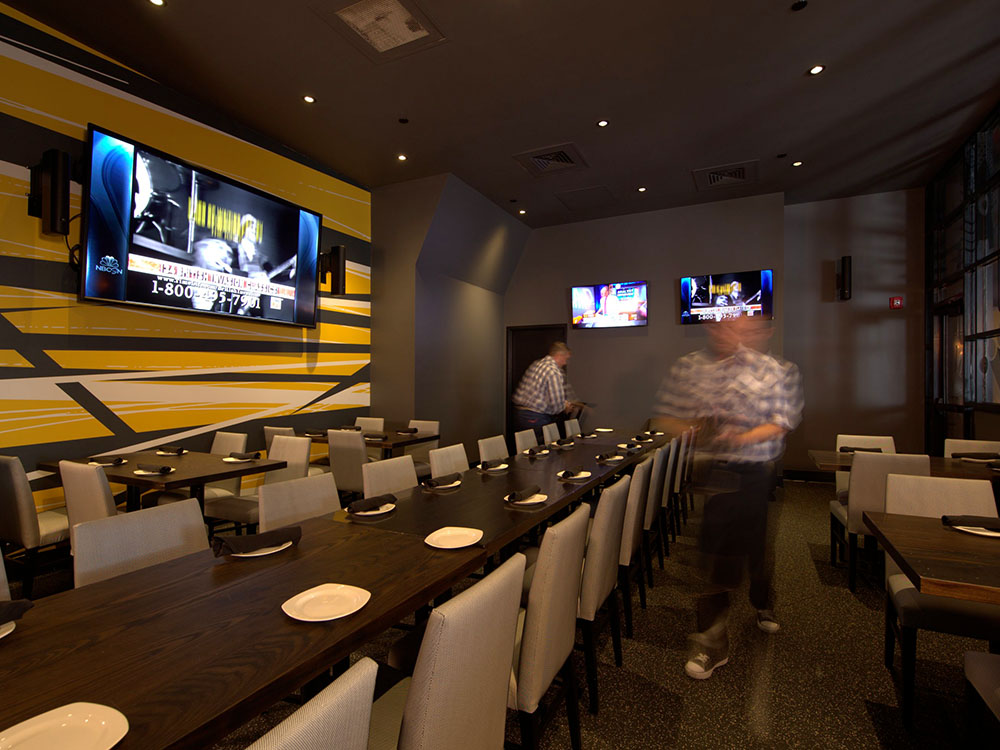 Group events at nbc sports grill brew citywalk for Best private dining rooms orlando